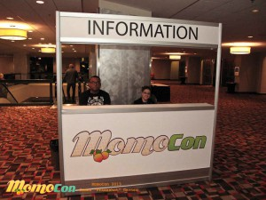 Don't be fooled by how quiet it all looks…we were posing for this picture during setup. (Credit: MomoCon/James Garner)